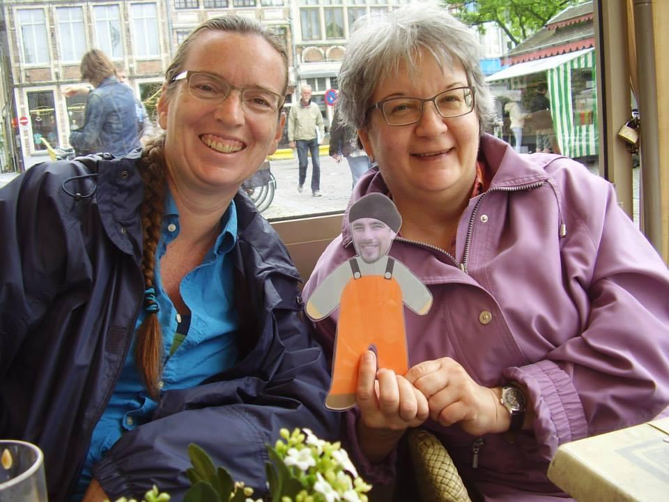 Elisa and Elna in Belgium.