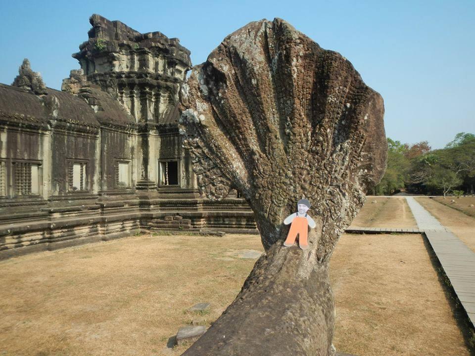 At Angkor Wat, Siem Reap, Cambodia .