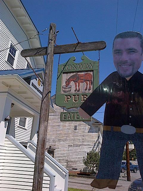 Mini Ben enjoying the Conway Pub Eatery in Conway, WA