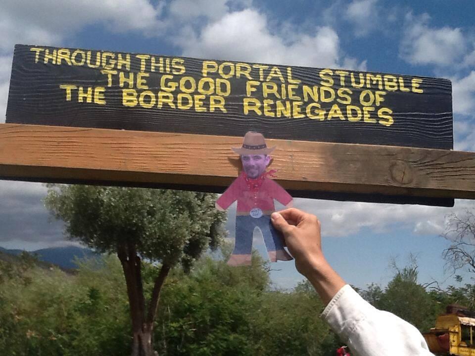 Mini Ben visiting the Border Renegades